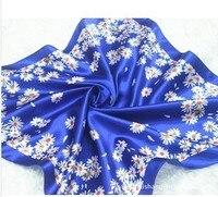 синий и белый для женский старинные жидкости шарф шелк шарф мисс