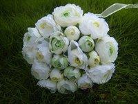 прекрасный чайная роза невесты букет, свадьба шелковый цветок, с 20 цветы, дома украшения, бесплатная доставка
