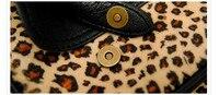 классическая леопард печать опрятный стиль женская сумки на ремне, винтаж замши ежедневно рюкзаки / модные школьные сумки