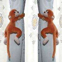 бесплатная доставка оптовая продажа 1 пар/лот забавные обезьянки занавес пряжка + занавес ремень
