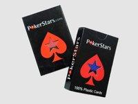 бесплатная доставка 1 палубы / много 100% пластиковые карты покер звезды GAL