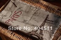 старинные ретро хлопок в ткани париж эйфелева Ban воздушная почта 50 х 70 см
