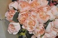 горячая распродажа необычные 6 шт. / букет элегантный пион букеты высокое качество в крем / бледно-розовый