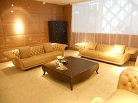американский стиль кожаный честерфилд диван мебель