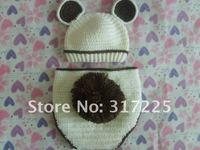 утка новорожденный шляпа и крышка пеленки младенца вязания крючком шляпа
