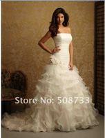бесплатная доставка белый органзы без рукавов wade платье вечернее платье - цветок на СЗ