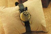 кожаный ремешок ретро мультфильм кролик часы, кожаный ремешок