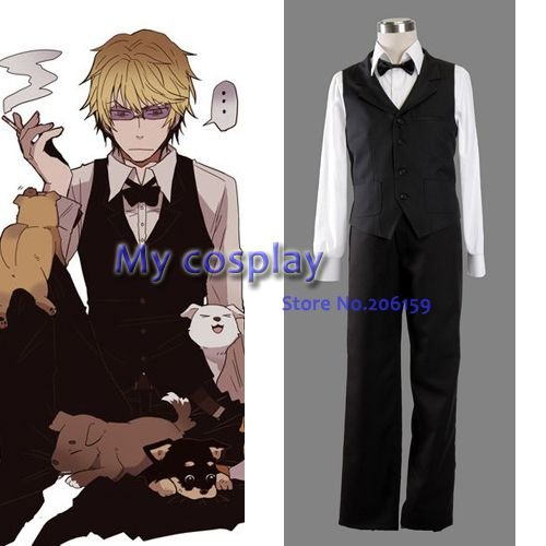 Heiwajima shizuo Menu0027s Cosplay Costume Men Halloween Vest Suit Uniform Clothing Vest + & Durarara!! Heiwajima shizuo Menu0027s Cosplay Costume Men Halloween Vest ...
