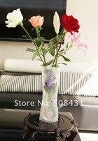 б 50 шт./лот пвх пластик раскладной цветок ваза ваза домашнее украшение смешанный цвет