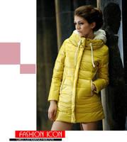 новинка женщин длинный пла бесплатная доставка дамы зима теплая хлопка-НДС парка Pot пальто толстая одежда