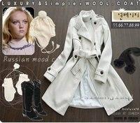 бесплатная доставка женские пальто рома двубортный зимнее пальто / куртки с поясом 4 цвет