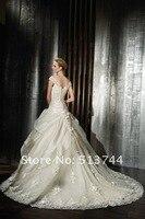 оптовая продажа - 2011 Seal а милая атласная свадебные платья без суда бордель бисероплетение / RUS