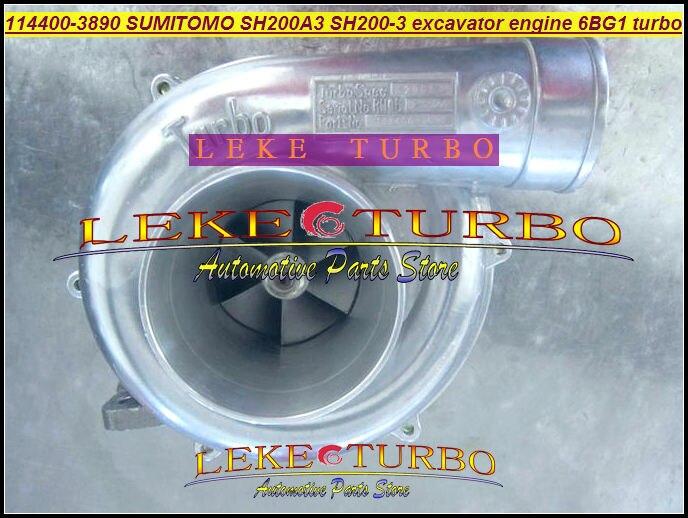 114400-3890 SH200-3 For SUMITOMO SH200A3 excavator engine 6BG1 Turbocharger (3)