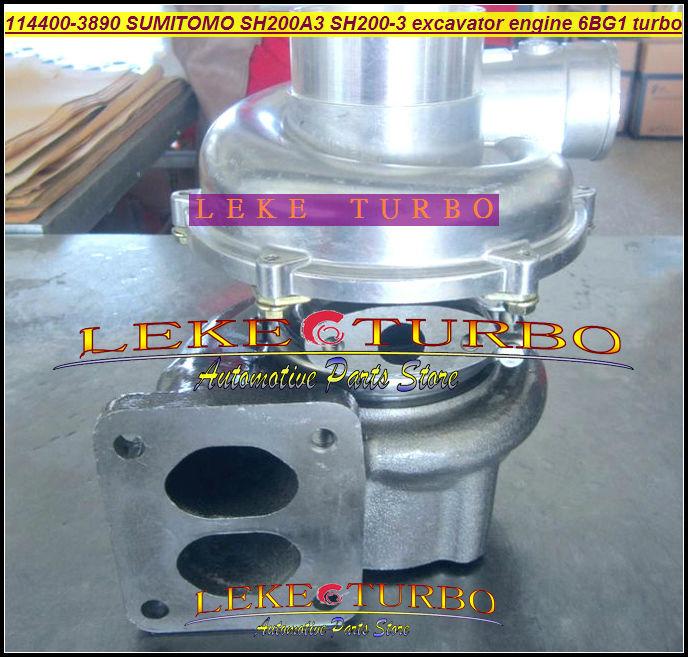 114400-3890 SH200-3 For SUMITOMO SH200A3 excavator engine 6BG1 Turbocharger