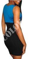 новый! 1 шт. синий сексуальное женская мода платье нарядное, повод коктейльное платье, повседневная одежда, опт и розница - бесплатная доставка
