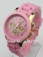 Корс дешевые часы с Кремниевой корпусе м марка платье кремний лента кварцевый подарков наручные часы для мужчин и для женщин ladies12 цвет оптовая продажа