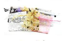 500 шт./лот шелк органза сумка ювелирные изделия упаковка сумки мешок 7 х 9 см много - цвет bx004