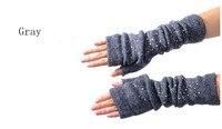 30 шт./лот 3 цветов осень и зима женская мода шерсть + акрил трикотажные пол-пальца перчатки / вязаные гетры
