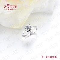 zocai естественно реального гиа 0.6 ст сертифицированный Дж / вс2 бриллиантовое обручальное кольцо круглого сечения 18 к белый золотые украшения w00254