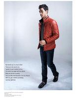 осень и зима мода мужской супер-теплый пуховик стоит короткий пуховик пальто бесплатная доставка мода перо мужской