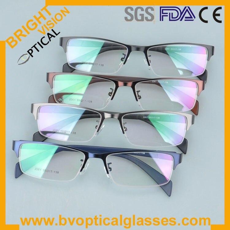 New model delicate half rim metal optical frames glasses 2261he