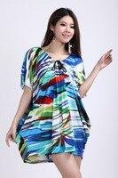 новое поступление большой размер платья блузка богемия лето мода леди широкий с V шея платье с рукавами для женщин высокое качество