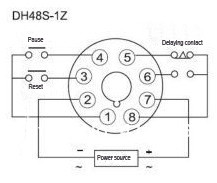 dh48s 1z omron timer relay ac 380v-in relays from home improvement, Wiring diagram