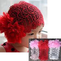 горячая распродажа 1 шт. красивая сетка цветок резинка для волос повязка на голову для детей девушки 3 цветов a1825