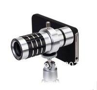 высокое качество 12-кратным оптические линзы телефон телескоп с объективным стабильный для iPhone 4 и 4S / 5 с стабильного аксессуары