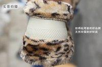 леопардовым узором зима плюшевый руль футляр