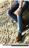 мужчины в сникер мужчины глава слой воловья кожа скраб вентиляция лежа обувь мокасины вилочная часть низкая верхний скольжение кроссовки