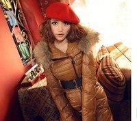 новое постулат Taste зима очень большой меховой пуховик стоит ут перо женщин средней длины - длинный пуховик верхняя одежда