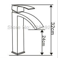 высокое качество высокий водопад краны для ванной Rain с торгово-площади Late тела и на одно отверстие на зануда pgmp080