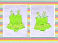 оптовая продажа девочек прекрасный зеленый две части gb15-2