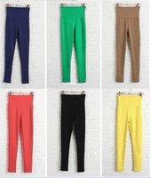 ЖЖ-079 современный женщины хлопок поддельные джинсы высокая талия тонкий карандаш леггинсы / брюки 9 цветов