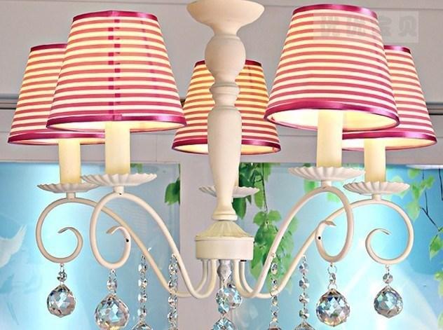 speciale kinderkamer europese stijl strepen kroonluchter lamp, Deco ideeën