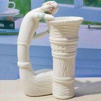 оптовая продажа бесплатная доставка - современная керамика / этнических девочка корзина / ваза украшения / аксессуары для дома мода