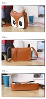дамы винтажный лиса мешок плеча сумочка полиуретан кожа сумки женщины кожа мешок подарки