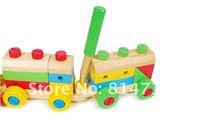 бесплатная доставка деревянные строительные блоки игрушечный поезд