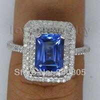 винтаж изумруд вырезать 8х6 мм 14к белое золото бриллиант кольцо попробуйте хороший камень для пары рождественский тонну украшения подарок ar0014