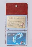бесплатная доставка + корея мода фиолетовый подлинной кожаная кредитной имя держателя карты, продвижение подарки jjk065