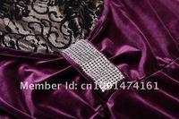 мода осень и зима женщины платье стоит бисероплетение длинным рукавом черный baht платья большой размер велюр платье бесплатная доставка