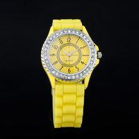 шарм кристалл силикон желе наручные часы мужской спортивный / / девушка кварцевые наручные часы