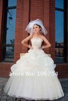 бесплатная доставка! новый дизайн! мода белый или шампанское невесты принцесса свадебное платье
