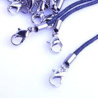 50 шт./лот черный змеиная кожа кожа шнурок ожерелье шнур с лобстер-застежка застёжка