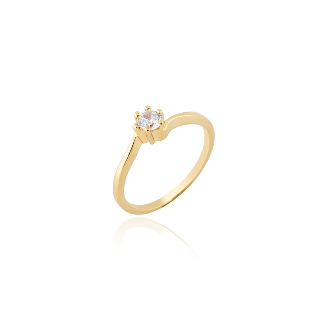 J27010 18k Real K Gold Platinum Plated Simple Wedding Rings For