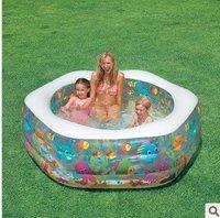 бассейн для детей интекс, НД бассейн воды для ребенка с интекс ручной насос, бесплатная доставка