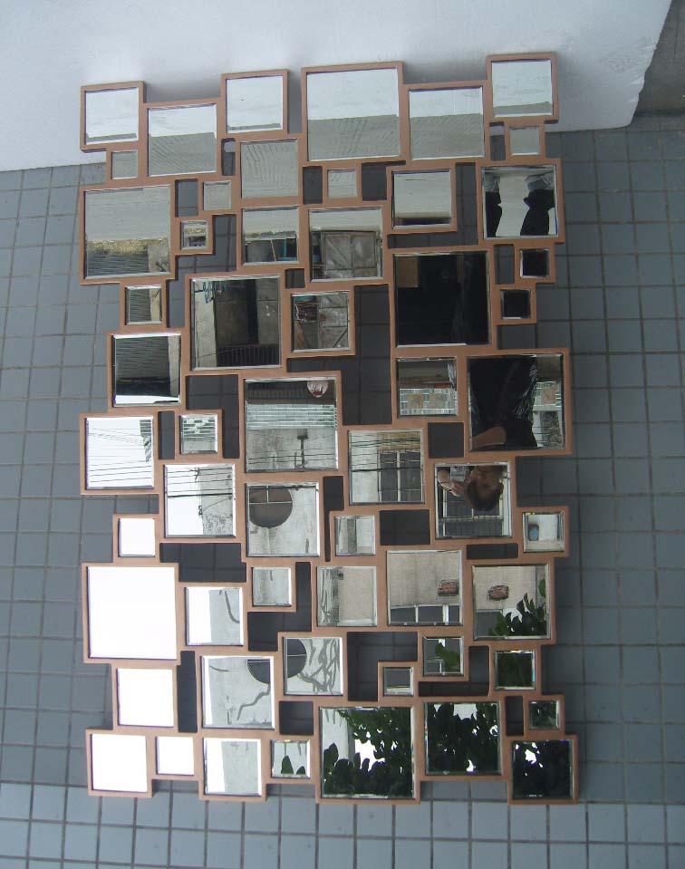 MR 201398 mosaik wandspiegel kunst mit holz gebogenen rahmen in MR ...