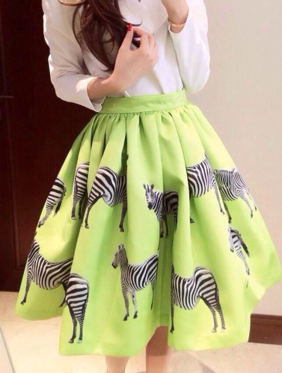 новый вспышка плиссированные полосатый шаблон мода природные талия бальное платье юбки леди летняя одежда симпатичные ну вечеринку юбка свободного покроя одежда