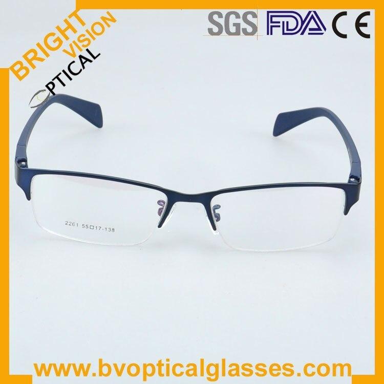 New model delicate half rim metal optical frames glasses2261lan-2